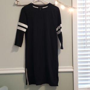 J.Crew black and white dress